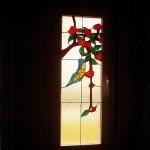 vidriera para ventana Tiffany. diseños personalizados. gran variedad de colores de vidrio. fabricación propia.