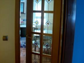 cuarterones Tiffany para puerta