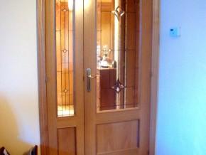 vidriera para puertas de salón