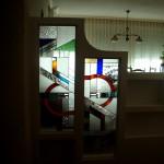 vidriera para la separación de ambientes. diseño personalizado.