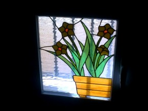 vidriera para ventana tragaluz