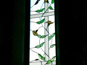 vidriera artesana para tiro de escalera