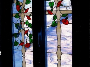 vidriera artesana de colores