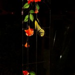 vidriera con mariposa