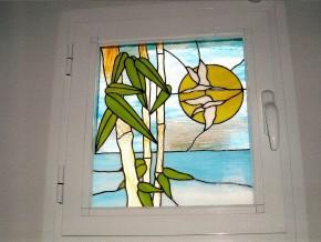 vidriera para puerta Tiffany. diseños personalizados. gran variedad de colores de vidrio. fabricación propia.