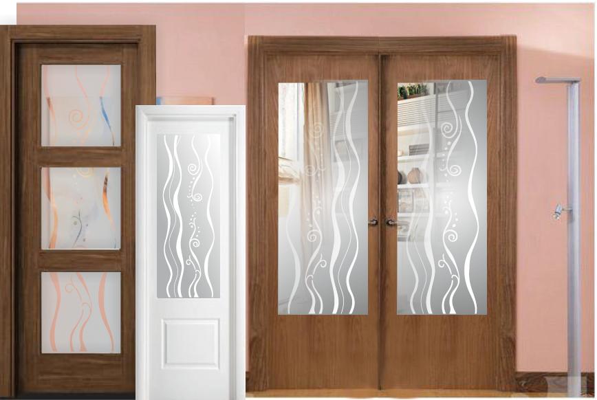Atractivo catalogo de cristales para puertas de interior for Decoracion cristales puertas interior