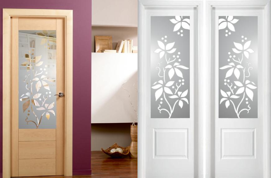Cristales decorativos para cocinas trendy cristal - Cristales decorados para puertas ...