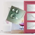 cristales con vidrios fusing con relieve