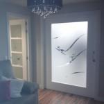 cristales con diseño personalizado para puertas