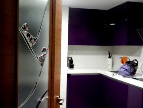 cristal decorativo con vidrios fusing con relieve. Colores personalizados