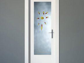puertas con cristal decorativo