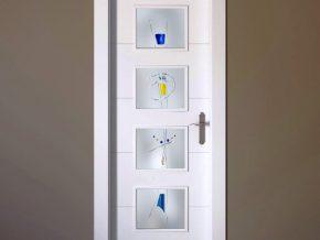 cristales con diseño exclusivo para puertas.