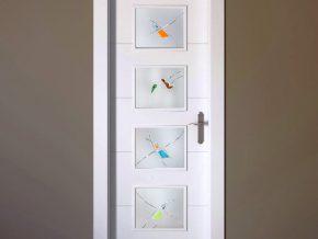 cristales originales ideales para puertas blancas. Colores personalizados