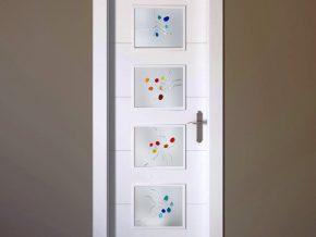 cristales para puertas con colores alegres