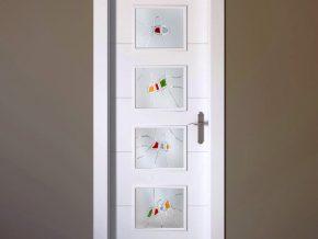 cristales con diseño innovador para puertas. Colores personalizados