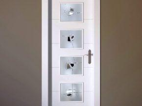 Vidrios con diseño personalizado para puertas