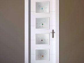 cristales originales sobre fondo blanco mate para puertas