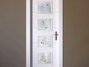 vidrios mate con diseño personalizado, para puertas de interior