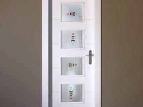 Cristales para puerta con cristal mate y diseño personalizado