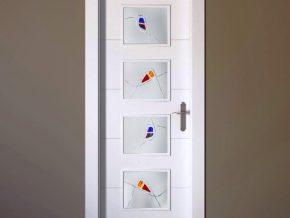 Vidrios decorativos para puerta de cuarterones