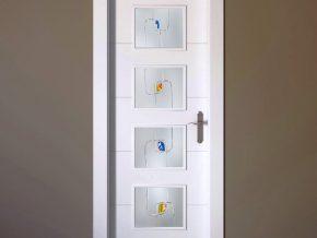 cristales mate con diseño vanguardista para puertas de cristal