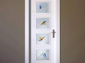 cristales para puertas con detalles de color a elegir