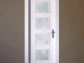 Diseño moderno de cristal mate para puerta