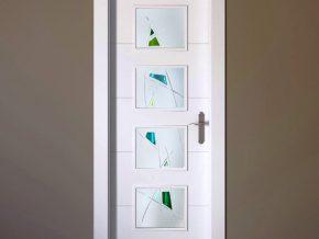 Cristales de fusing para puerta.