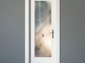 cristales mateados con diseño elegante para puertas