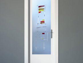 cristal mate para puerta con diseño patentado