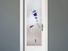 diseño alternativo en cristales para puertas