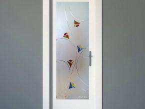 cristales con dibujos alegres para puertas