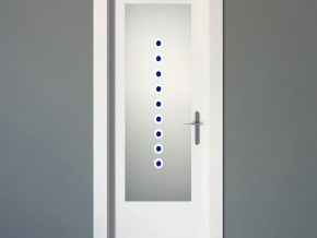 diseño en vidrio para puertas de interior