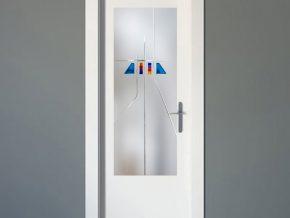 cristales sobre fondo mate para decoracion de puertas de interior