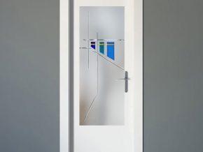 vidrios mate para puertas blancas