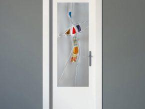 diseño en cristal mate para puertas