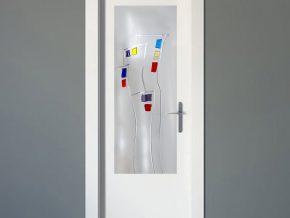 cristales con diseño patentado para puertas