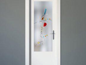cristales para puertas con diseño abstracto
