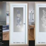 diseño personalizado en cristales para puertas