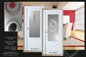 diseños abstractos para cristales de puertas