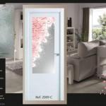 diseño en vidrieras para puertas
