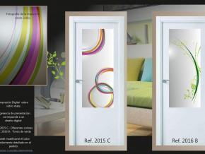 colores vivos en cristales para puertas