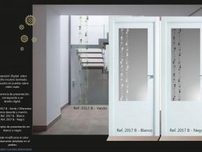 diseño de cristal para puerta