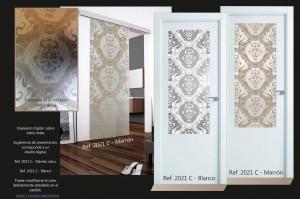 cristal para puerta diseño vintage