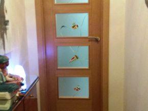 cristales de fusing para puerta de cuarterones, colores y diseño a gusto del cliente